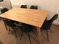 Kayden Oak Dining Table + 6 Chairs