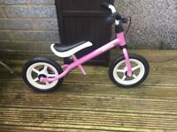 Pink kettler balance bike New
