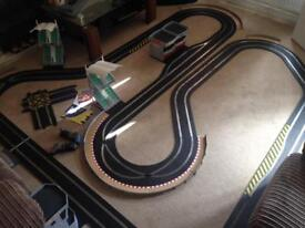 Scalextric Digital track set with cars, pit and lanechanger