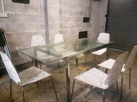 IKEA glass extendable table and chairs