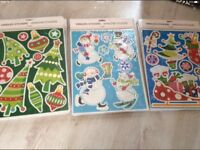 Christmas window stickers