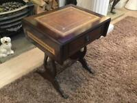 Vintage Drop Leaf Side Table On casters