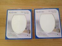 Pair of Brand New Boxed white toilet seats