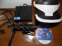 ps4 vr headset camera leads and demo disc