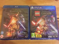 Lego Star Wars the Force Awakens (PS4) and Star Wars the Force Awakens (Blu-ray)