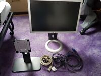 Dell SE198WFP Very Good Condition with optional Ergotron Display mount.
