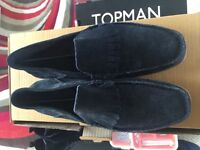Mens / Boys Next Blue Loafer Shoes