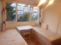 Bright Large Twin Room Share with 1 Person Avail