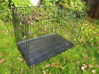 Large Dog Crate, Cage Removable Tray