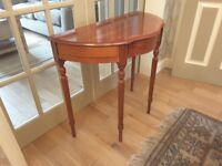 Half moon hall/telephone table with small drawer