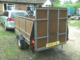 8X4 GOODS / TRANSPORTER TRAILER WITH FULL RAMP-TAIL 750KG UNBRAKED...