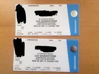 LCD Soundsystem. Two tickets. Barrowland, Glasgow. Wednesday 20th Tickets GA6 122 & 123