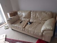 Quick Sale - Full two bed apartment Furniture on Sale -IKEA furniture + DFS Leather sofa - £500 only