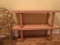 Quick sale needed. Solid pine shelving unit
