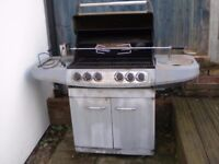 Swiss Grill Barbeque with Rotisserie attachment and side burner