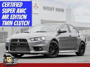 2012 Mitsubishi Lancer Evolution MR-One Owner-2.0L Turbo-Certifi