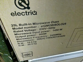 Electriq Stainless Steel 25l Built In Digital Standard Microwave Eiqmobisolo25