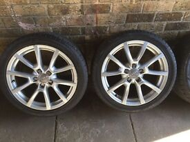 "Genuie audi alloys wheel 18 "" which tyres"