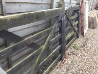 10ft Wooden gates. In good condition but need a paint great value