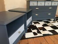 Stag Minstrel Bedside Tables and Chest of Drawers