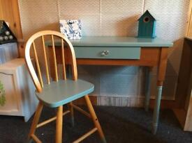 Console table desk pine
