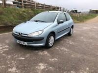Peugeot 206 look 1.1 mot July 2018 full service history