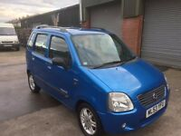 SUZUKI WAGON R 1.3 GLS LIMITED 53 REG IN BLUE WITH GREY TRIM ONLY 70400 MILES, FULL SERVICE HISTORY
