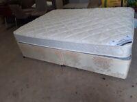 King size bed base & mattress