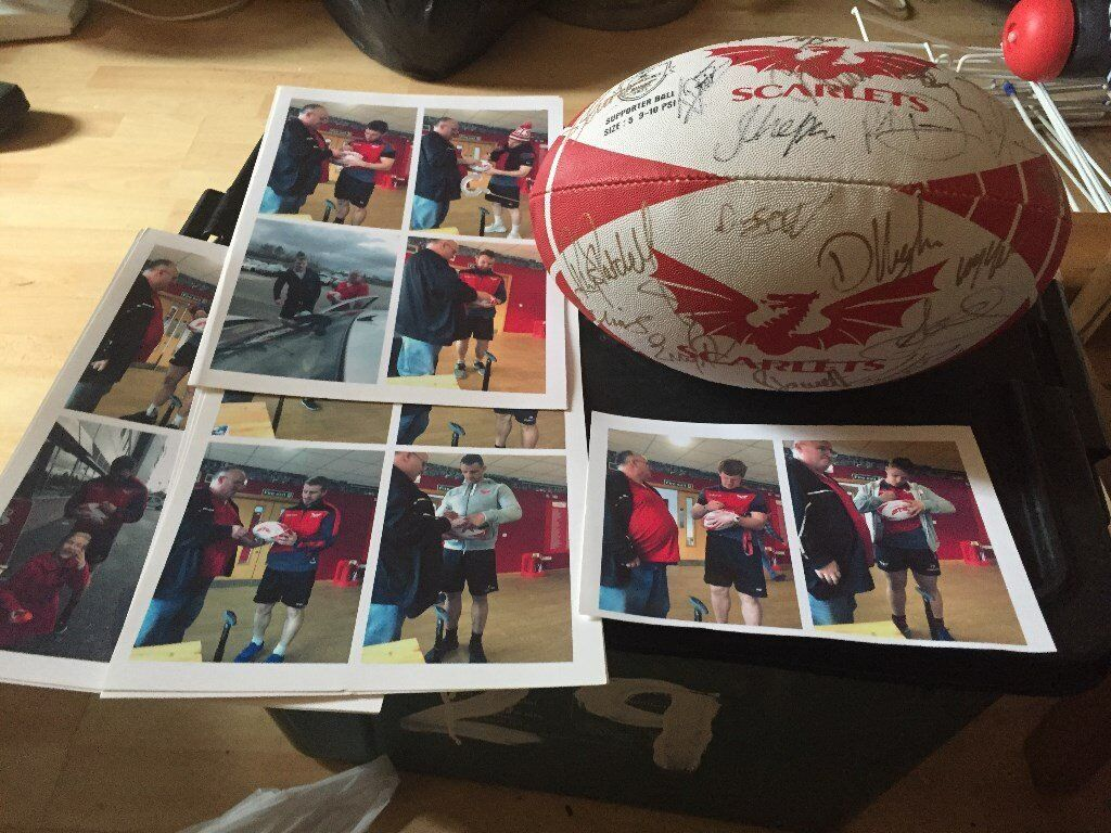 Signed Scarlets Rugby Ball - Charity Listing