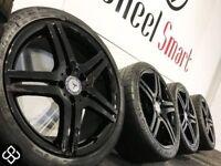 """NEW MERCEDES 18"""" ALLOY WHEELS & TYRES - 5 X 112 - CRYSTAL BLACK- Wheel Smart"""