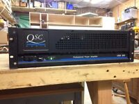 QSC USA 850 Professional Power Amplifier Stereo 2 x 240W, 850W Bridged