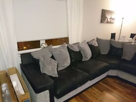 Corner sofa and twister chair for sale