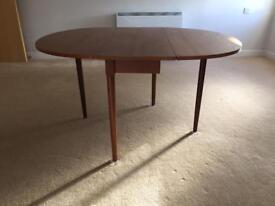 G Plan / Ercol style drop leaf / folding dining table - retro, vintage, mid century
