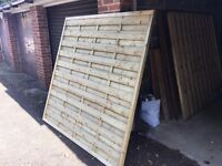2no Omega fence panels