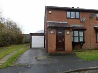 Pinxton, lovely 2 bedroom house, driveway, garage, conservatory, gardens & central heating