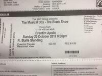 Two tickets for 'The Musical Box'
