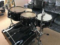 Tama Superstar Hyperdrive - Birch Shells (Flat Black) 5 Piece Drum Kit