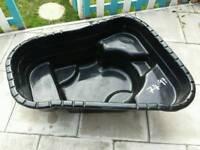 Moulded plastic pond