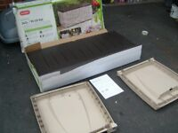 KETER GARDEN STORAGE BOX /TRUNK AND SEAT,NEW IN BOX