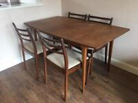Table & 4 chairs £25