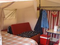 Combi-camp family trailer tent with matching awning.