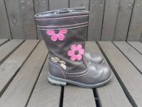 George Girls Boots, Brown With Flowers, UK Size 8