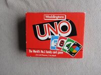 Uno card game. By waddingtons