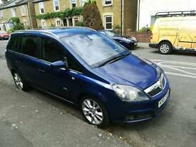 Vauxhall zafira automatic leather seats