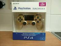 New & Boxed Gold Ps4 Controller only used once
