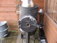 wood burning stove gas bottle conversion
