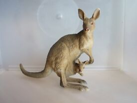 ELC / AAA wild animal figure - Kangaroo with joey in pouch. Great Christmas stocking filler!