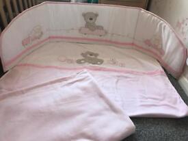Baby cot bumper & blankets