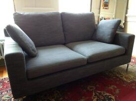 Dwell 2 seater sofa - grey, 'Oslo' style