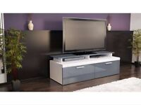 Brand new grey white TV unit